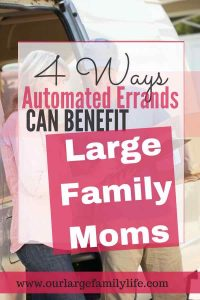 Automating your errands is a great way to stay on top of things, especially when you are a mom of a large family. We are always running out of something right? Find out all the ways your life can be made easier by automating some of those errands.