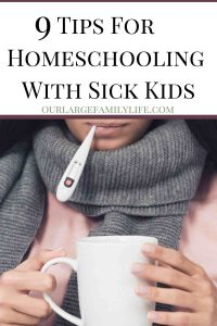 Sick days can easily throw off your routine when you homeschool. Find out how you can still get school done while other kids are sick, including activities for sick kids as well.