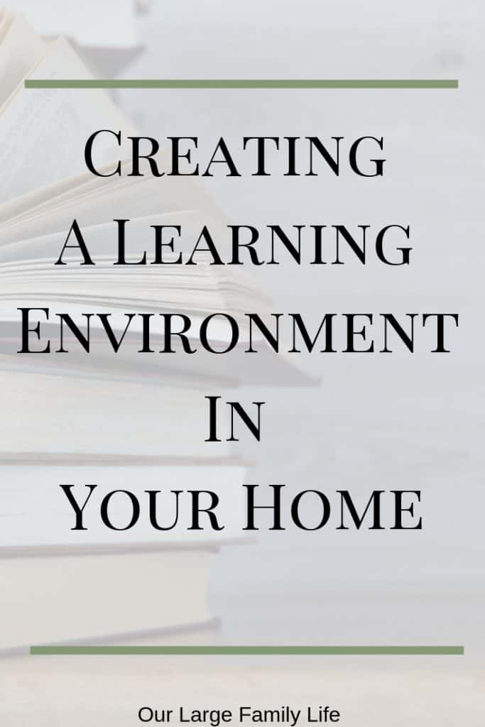 Creating a learning environement in your home is a great way to keep your kids learning even when your not doing actual school work. Find out what to stock up on to foster a learning environment in your home.