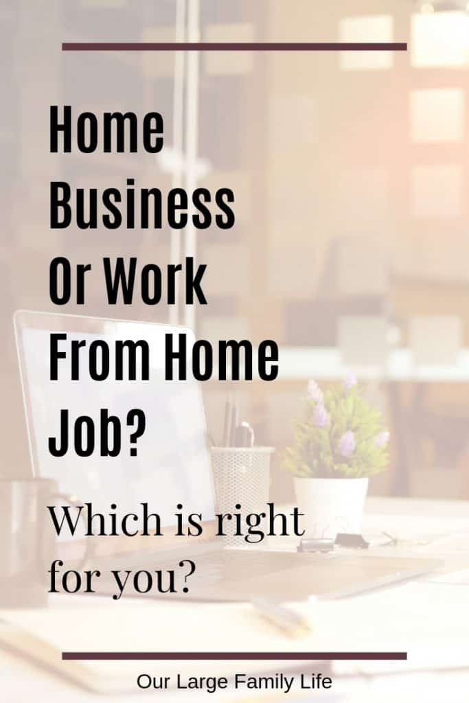 Home business and work from home job get thrown around a lot together, but they are different way to make money. If you want to make money from home, take a look at the differences to see which one is right for you.