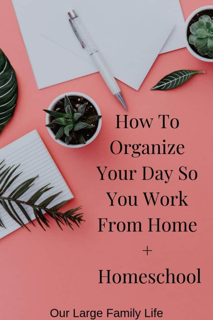 Are you wondering how you can balance your day between homeschooling and working from home? Find out how to make sure it all gets done with these tips.