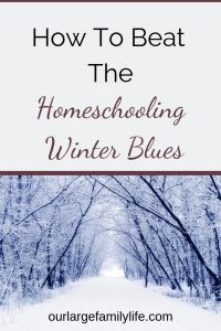 Are you ready to beat the homeschooling winter blues? Check out these tips to break out of your routine and bring some excitement to your homeschool while you wait for spring!
