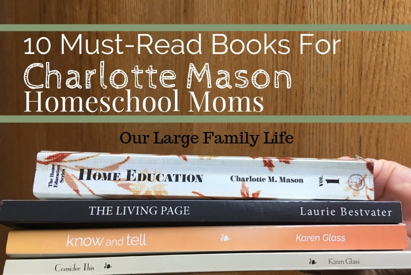 Charlotte Mason books, home education series, the living page, consider this, know and tell