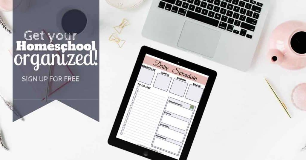 daily homeschool schedule planner