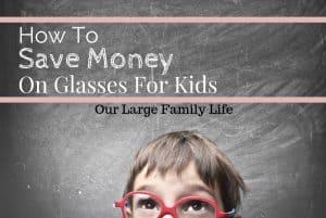 kid in glasses, saving money on kid's glasses